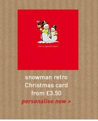 snowman retro card