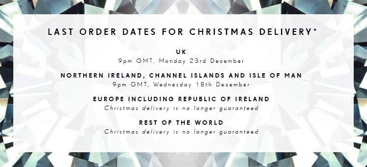 Xmas Delivery Dates