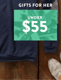 Gifts for her under $55