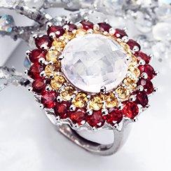 Gemstone Earrings & Rings under $599
