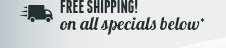 Free Shipping all special*