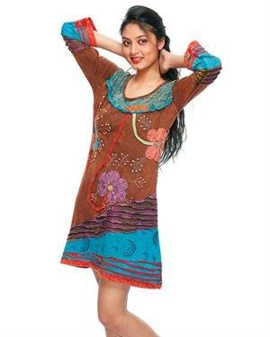 Rising International 100% Cotton A-Line Dress