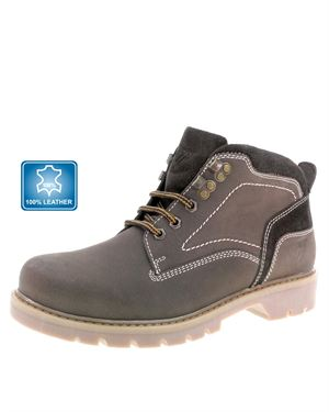 Beppi Genuine Leather Lace-Up Boots Made In Portugal