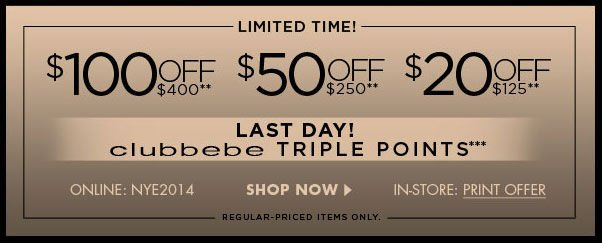 Limited Time! $100 Off $400 - $50 Off $250 - $20 Off $125