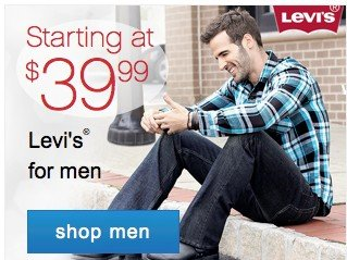 Starting at $39.99 Levis for men. Shop men.