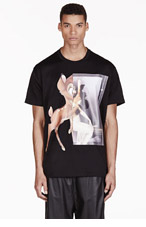 GIVENCHY Black Oversized Bambi T-shirt for men