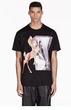 GIVENCHY Black Oversized Bambi T-shirt for men