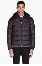 MONCLER Black Quilted Puffer Himalaya Jacket for men