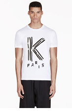 KENZO White Logo Graphic T-Shirt for men