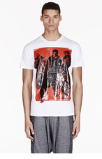 DIESEL White Rubber Graphic Margo T-Shirt for men