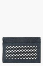 JIMMY CHOO Black Studded DEAN Card Holder for men