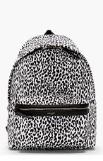 SAINT LAURENT WHITE & BLACK LEOPARD Print  BACKPACK for men