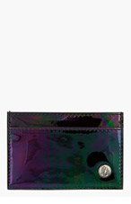 JIMMY CHOO Black Iridescent DEAN Card Holder for men