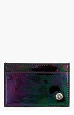 JIMMY CHOO Black Iridescent DEAN Card Holder for men