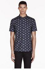 PAUL SMITH JEANS Washed Black Dot Print Shirt for men