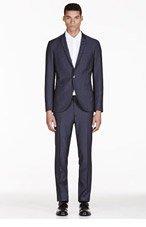 TIGER OF SWEDEN Navy Evert Wool Suit for men