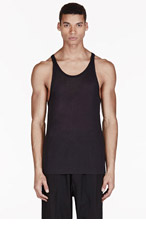 ACNE STUDIOS Black Semi-Sheer Tank Top for men
