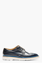 PAUL SMITH Black & blue stacked GRAND Brogues for men