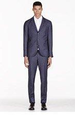 TIGER OF SWEDEN Slate Blue Kash Wool Suit for men