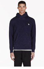 PAUL SMITH JEANS Navy Zebra Logo Hooded Sweater for men