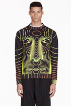 CHRISTOPHER KANE Black Grid Face Sweater for men
