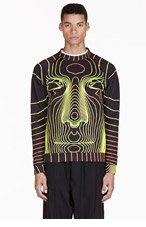 CHRISTOPHER KANE Black Grid Face Sweater for men
