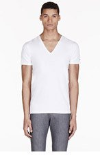 DIESEL White V-Neck Umtee-Jesse T-Shirt for men