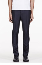 ACNE STUDIOS Deep Navy Wool Drifter Trousers for men