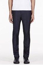 ACNE STUDIOS Deep Navy Wool Drifter Trousers for men