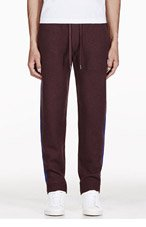 MARC BY MARC JACOBS Burgundy Wool Knit Hampstead Lounge Pants for men