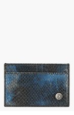 JIMMY CHOO Blue Python DEAN Card Holder for men