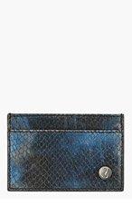 JIMMY CHOO Blue Python DEAN Card Holder for men