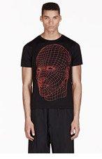 CHRISTOPHER KANE Black Grid Face Print T-Shirt for men