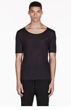 ACNE STUDIOS Black Semi-Sheer T-Shirt for men