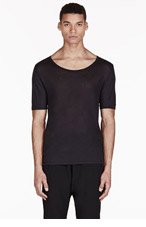 ACNE STUDIOS Black Semi-Sheer T-Shirt for men