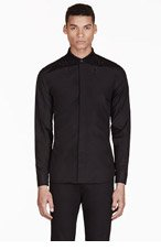 GIVENCHY Black Embroidered Stars Shirt for men