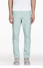 ADIDAS BY TOM DIXON Mint Green Reversible Raw Edge Trousers for men