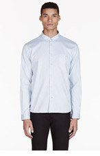 PAUL SMITH JEANS Sky Blue Polka Dot Shirt for men