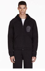 CHRISTOPHER KANE Black Appliqu� Hooded Sweater for men