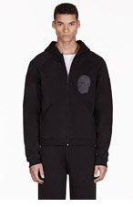 CHRISTOPHER KANE Black Appliqu� Hooded Sweater for men