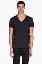 DIESEL Black V-Neck Umtee-Jesse T-Shirt for men