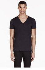 DIESEL Black V-Neck Umtee-Jesse T-Shirt for men
