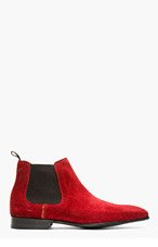 PS PAUL SMITH Burgundy suede FACONER boots for men