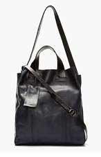 MARSÈLL NAVY leather mottled Minimalist TOTE for men