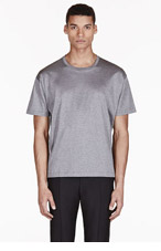 VALENTINO Heathered Grey Single Stud T-shirt for men
