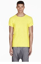 ADIDAS BY TOM DIXON Yellow Reversible T-shirt for men