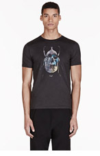 PAUL SMITH JEANS Black Beetle Print T-Shirt for men