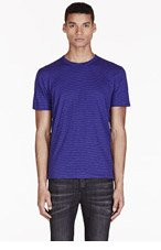 PAUL SMITH JEANS Blue & Purple Striped T-Shirt for men