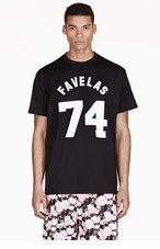 GIVENCHY Black Oversized Favelas Varsity T-Shirt for men