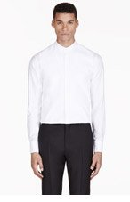 ALEXANDER MCQUEEN White Trompe L'Oeil Shirt for men
